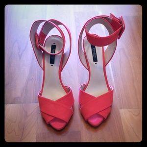 Like New Zara Ankle Strap Heels